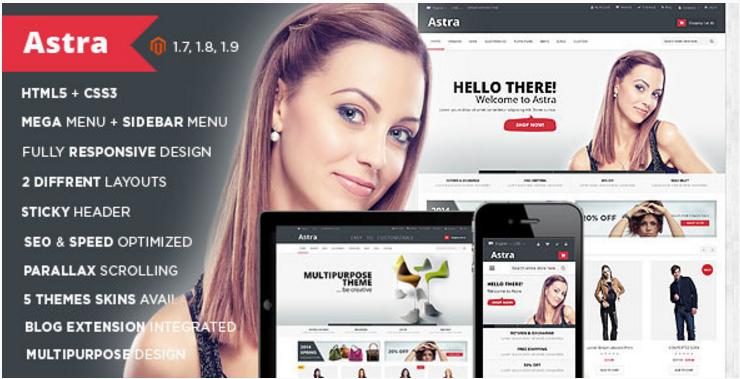 Astra - Responsive Multipurpose Magento theme