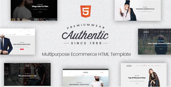 Authentic - Multipurpose eCommerce HTML Template