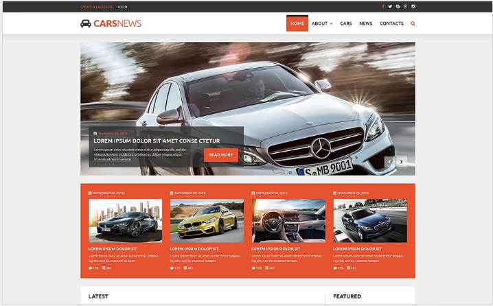 Auto Highlights Joomla Template