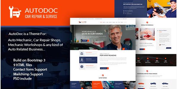 AutoDoc - HTML Car Repair Mechanic Shop