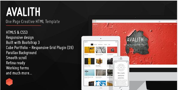 Avalith - One Page Creative HTML Template