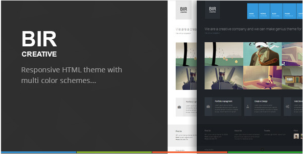 BIR - Responsive Creative HTML Template