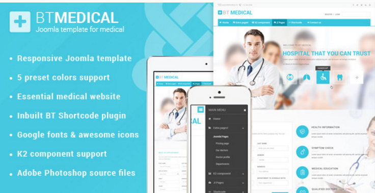 BT Medical Responsive medical joomla template