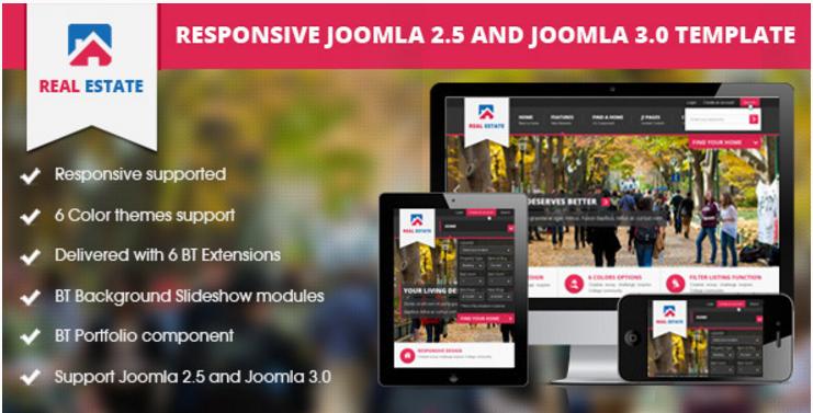 BT Real Estate - Responsive Joomla Template