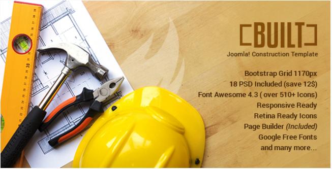 BUILT Construction Business Joomla Template