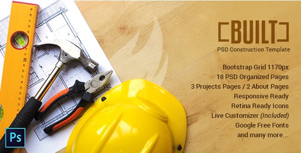 BUILT | PSD Template for Construction Businesses