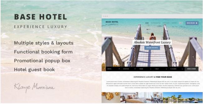 Base Hotel - HTML Template