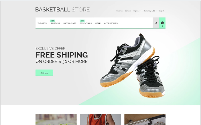 Basketball Uniform PrestaShop Theme