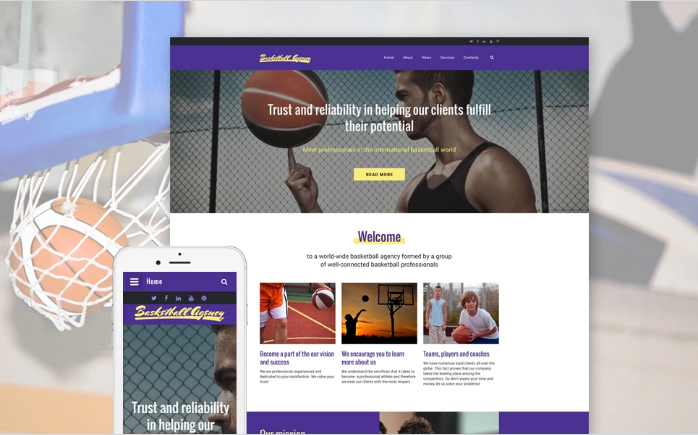 Basketball Website Template