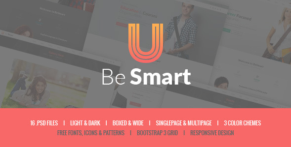 BeSmart - Education & Courses PSD Template