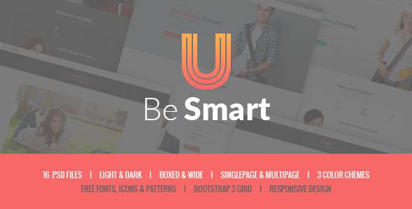 BeSmart - Education & Courses PSD Template