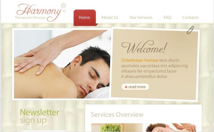 Beauty Salon PSD Template