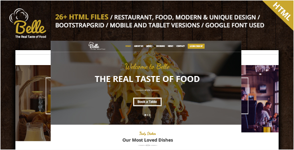 Belle - Food & Restaurant HTML Template