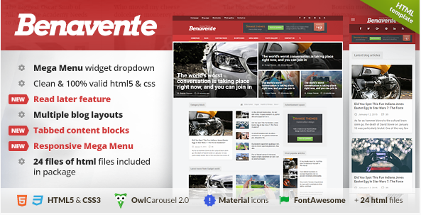 Benavente - News & Magazine HTML Template