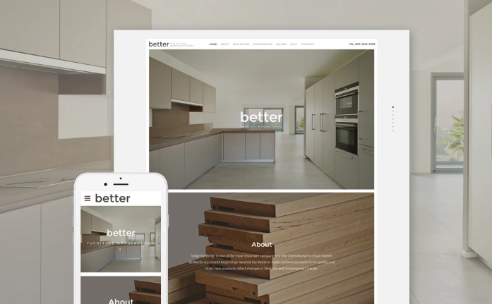Better Furniture Manufacturing Website Template
