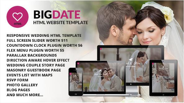 Big Date - Wedding Responsive Site Template