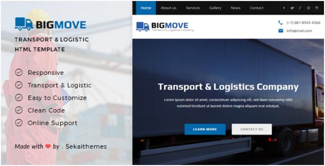 Big Move - Responsive Transport & Logistics HTML Template