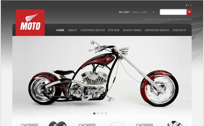 Bike Shop OpenCart Template