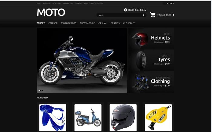 Bike Shop Responsive OpenCart Template