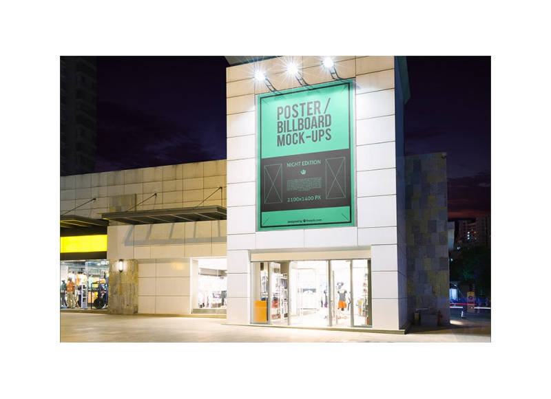 Billboard-Mockup-on-a-Building-Free-PSD