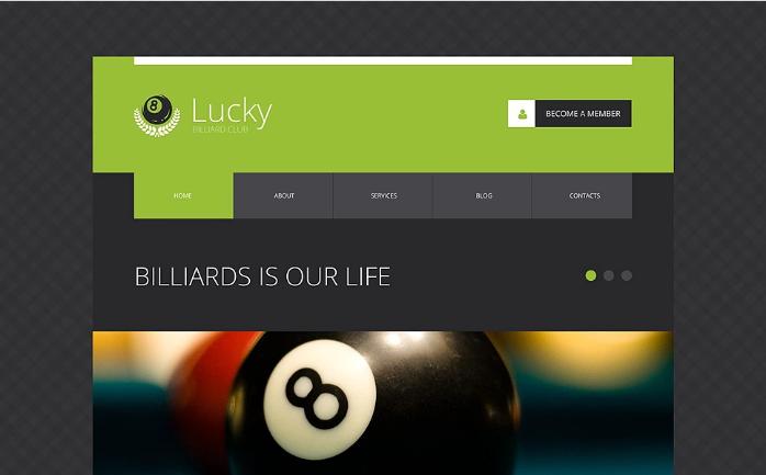 Billiards Club Website Template