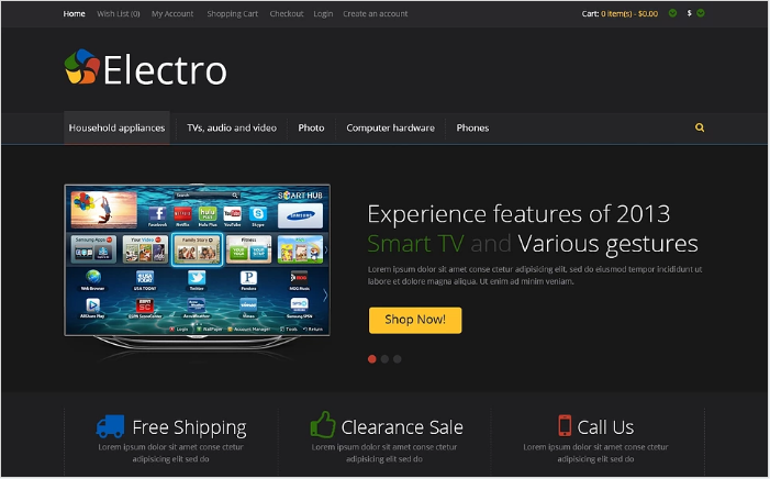 Black Electro Store OpenCart Template