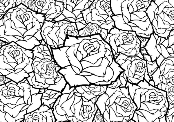 Black-and-White-Rose-Flower-Backgrounds