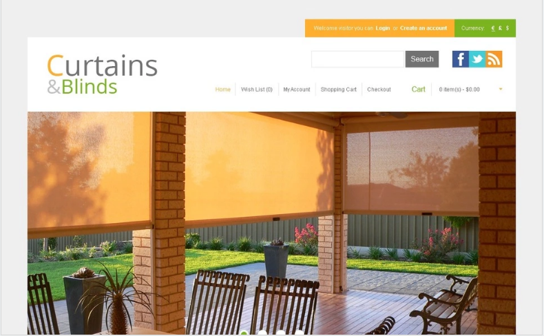 Blinds and Curtains OpenCart Template