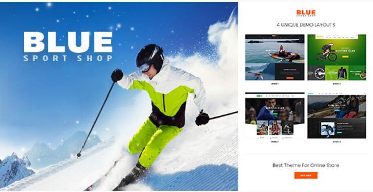 BlueSport - Responsive Prestashop Theme for Sport Store