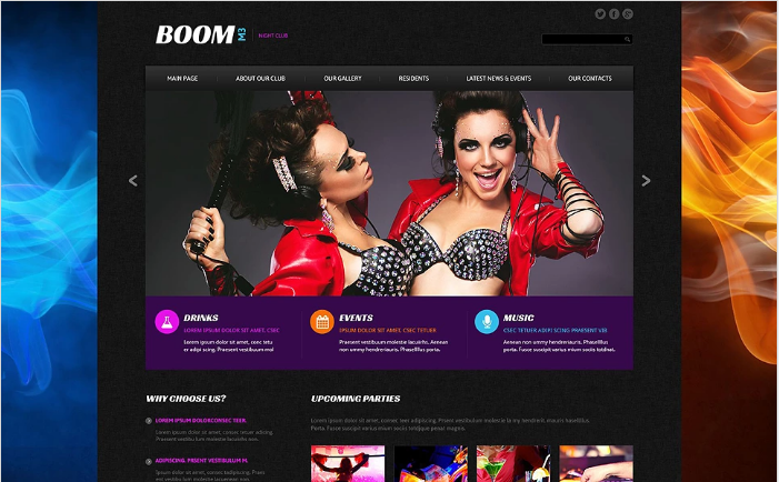 Boom M3 Website Template