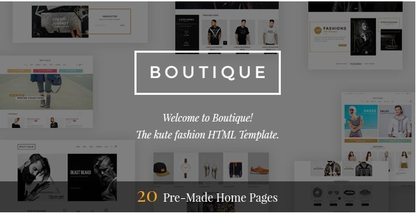 Boutique - Kute Fashion HTML Template