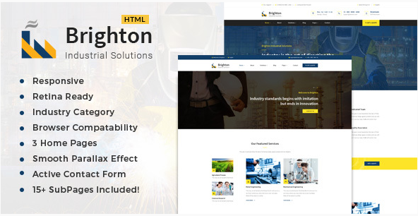 Brighton-Industry - Factory & Industrial Business Template
