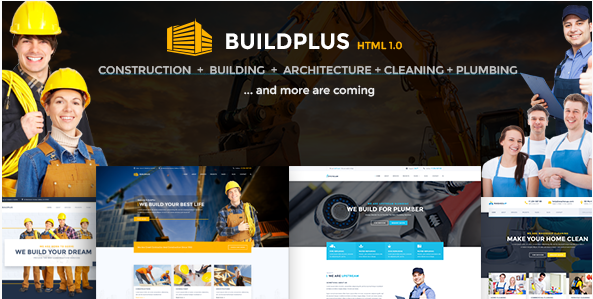 BuildPlus - Building & Construction Business HTML Template