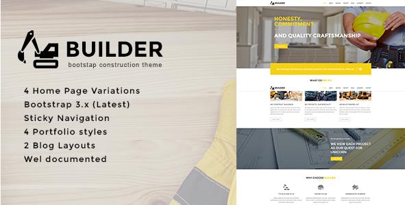 Builder - Construction HTML Template