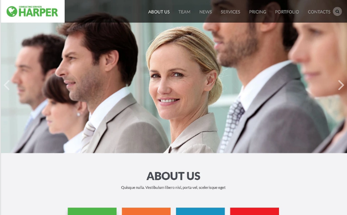 Business Consulting Agency Website Template