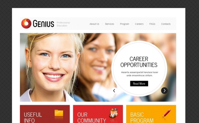 Business School PSD Template