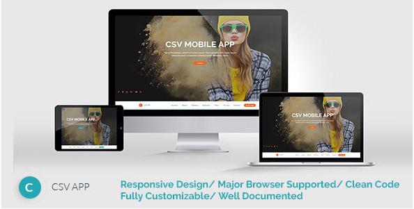 CSVAPP - Responsive Mobile App Landing Page - HTML Template