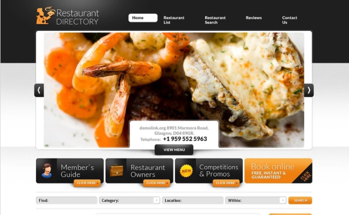 Cafe and Restaurant PSD Template