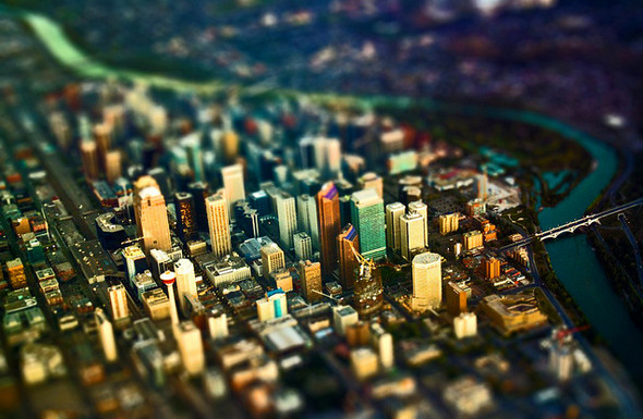 Calgary-from-Air-Tilt-Shift-Miniature-Fake