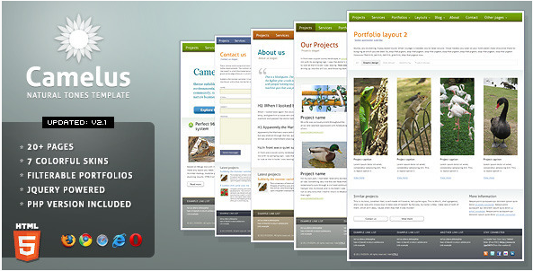Camelus - Nature Tones Business Template