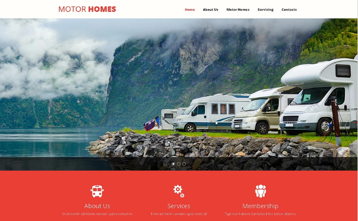 Camping Responsive Website Template