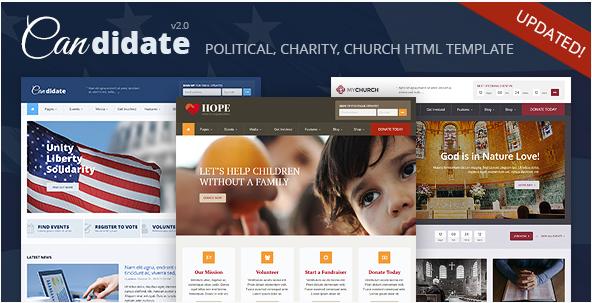 Candidate - Political Nonprofit Church HTML Theme