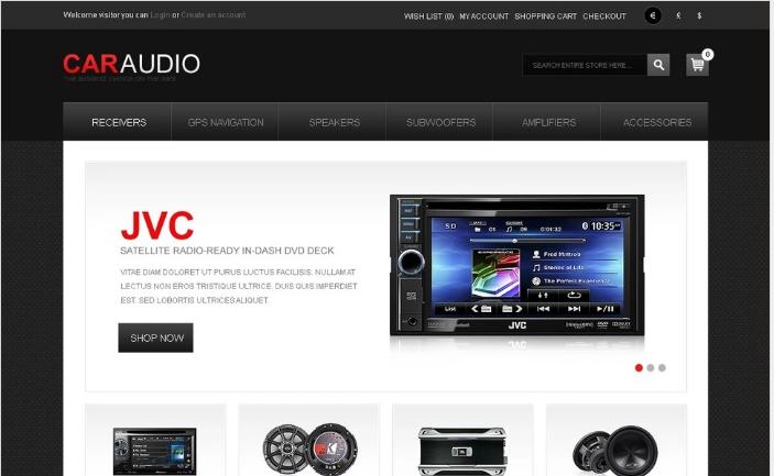 Car Audio OpenCart Template