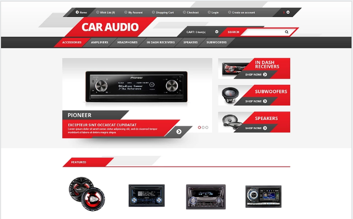 Car Audio OpenCart Template