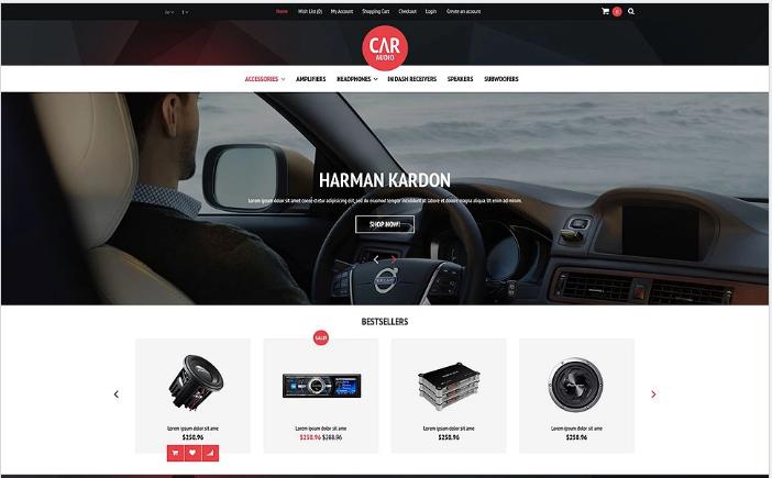 Car Audio Video Equipment OpenCart Template