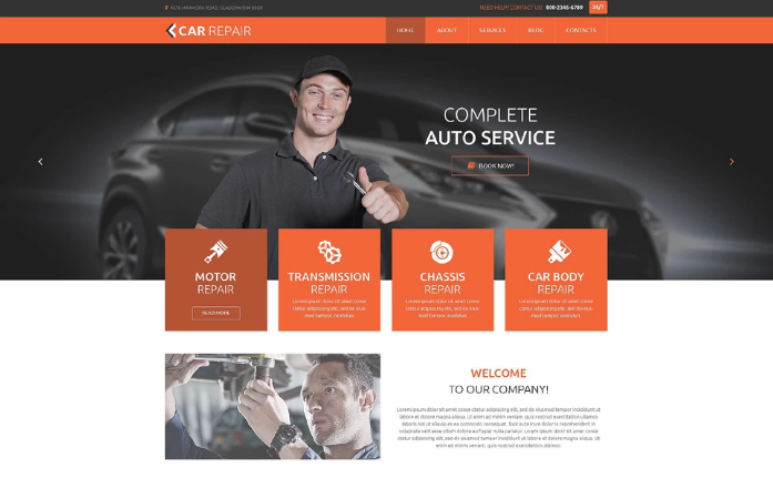 Car Repair PSD Template