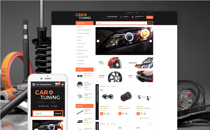Car Tuning OpenCart Template