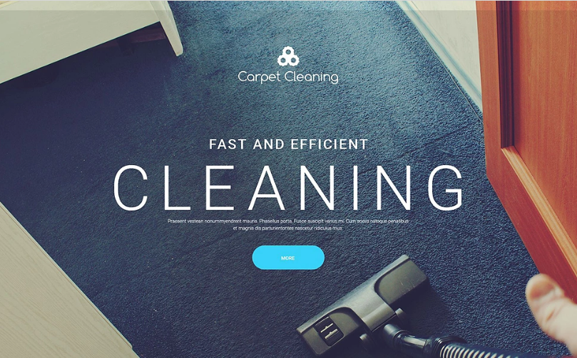 Carpet Cleaning Website Template