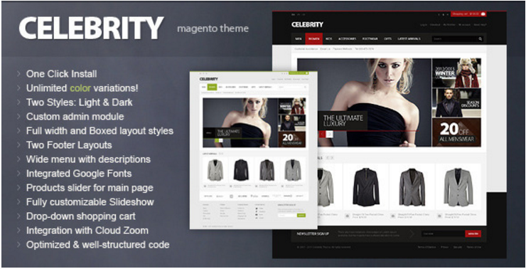 Celebrity - Best Selling Magento Themes