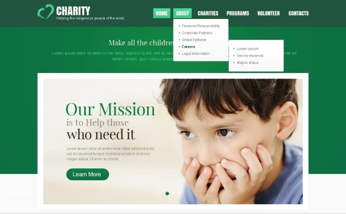 Charity PSD Template